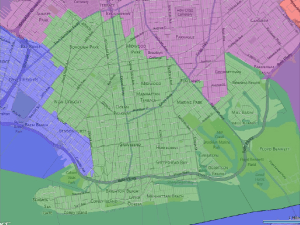 The group proposes a new district in southern Brooklyn.