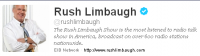 Rush Limbaugh's Consolation Prize: Twitter Followers