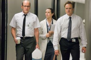 Jenkins, Amy Acker and Whitford in The Cabin in the Woods.