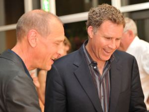 Mr. Marclay and Will Farrell in Basel. (Courtesy Getty Images)