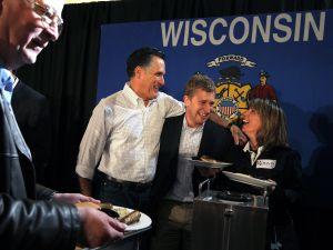 Mitt Romney campaigning in Wisconsin last weekend. (Photo: Getty)