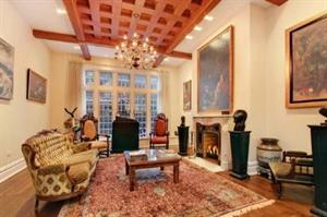 A magnificent living room? Yes, but not an $18.7 million one. (Corcoran)