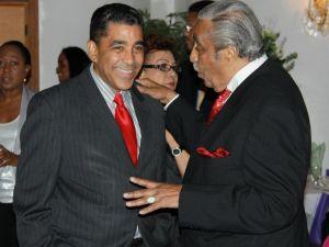 Adriano Espaillat and Charlie Rangel.