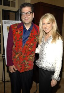 Crowley, right, with Michael Musto.