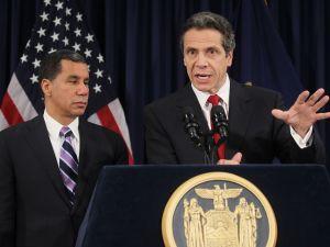 Gov. Andrew Cuomo and former Gov. David Paterson (Photo: Mario Tama/Getty Images).