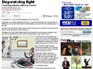 Man bites dog (NYPost.com)
