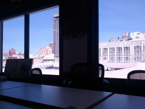 The view from one of the conference rooms.