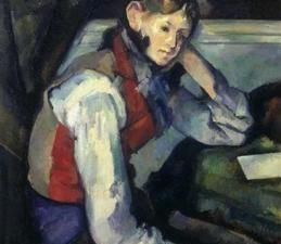 Paul Cezanne, 'Boy in a Red Waistcoat' (Photo courtesy Reuters0