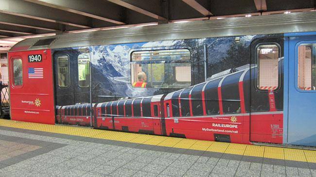 The S Stands For 'Swiss': Midtown Shuttle Train Goes to the Alps