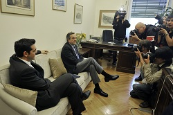 Alexis Tsipras, leader of the Syriza coalition