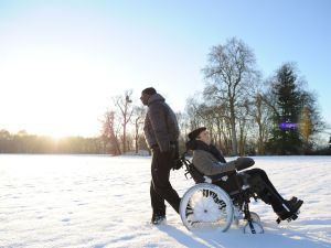 Sy and Cluzet in The Intouchables.