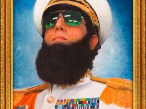 A portrait of Sacha Baron Cohen as Admiral General Shabazz Aladeen. (Photo: Facebook)
