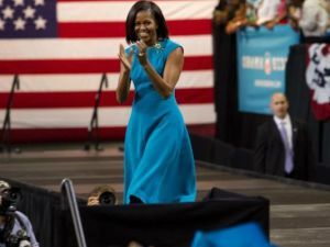 Michelle Obama at the rally today in Richmond. (Photo: Democrats.org)