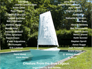 "The ad for ""Creature From the Blue Lagoon"" in Artforum. (Courtesy Bob Nickas)"