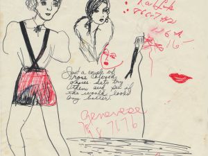 Drawing from journal of Candy Darling, 1969-72 (Courtesy Outlaw Art Museum)