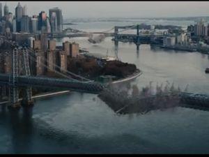 Is that Brooklyn Bridge that's falling down? (Warner Bros.)