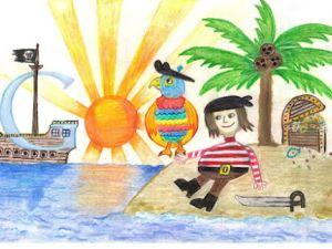 The winning doodle, by Dylan Hoffman, Age 7. (googleblog.blogspot.com)