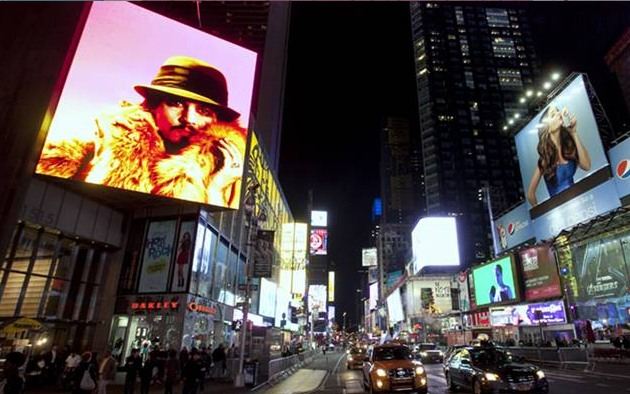 Catch Three Minutes of 'Robert Wilson Video Portraits' in Times Square Every Night! (Video)