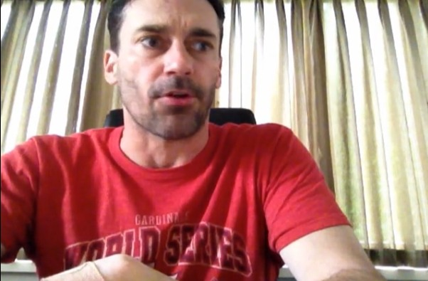 Jon Hamm Gives Girls Love Advice for Tavi Gevinson's Rookie Mag; Is Like A Real Life, Messy Don Draper (Video)