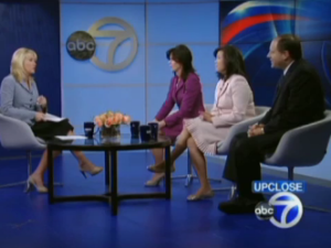 The three candidates on ABC a couple weeks ago.