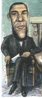 'Metrosexual Black Abe Lincoln' As Imagined By The Observer in 2008