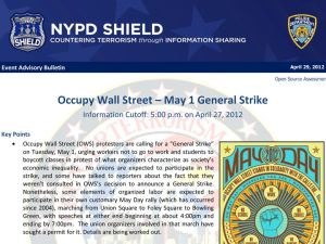 The NYPD's assessment of May Day.