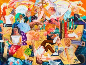 "Dana Schutz, ""Building the Boat While Sailing,"" 2012"