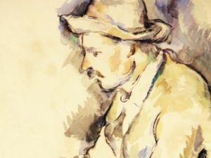 """Detail of Cezanne's """"Joueur de cartes,"""" which made a crisp $19.1 million. (Courtesy Christie's)"""