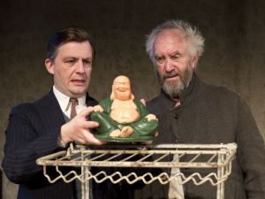 Alan Cox and Jonathan Pryce in 'The Caretaker.' (Courtesy Richard Termine)