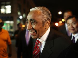 Congressman Charlie Rangel arriving at his election night party. (Photo: Getty)