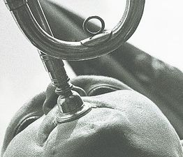 """Alexander Rodchenko """"Pioneer-Trumpet Player,"""" 1930. (Moscow House of Photography Museum)"""