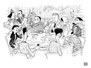 The O.G. Algonquin Round Table (Al Hirschfeld)