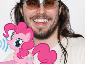 Andrew W.K. and his alter-ego, Pinkie Pie (Getty Images, Hasbro)