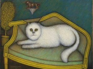 Morris Hirshfield, Angora Cat, 1937-9. (Courtesy Museum of Modern Art)