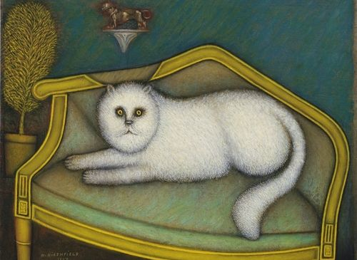 Morris Hirshfield, Angora Cat, 1937-9. (Courtesy Museum of Modern Art)
