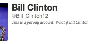 The Romney campaign's fantasy Twitter version of Bill Clinton. (Photo: Twitter)
