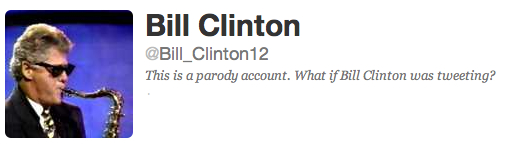 Romney Campaign Creates An Imaginary Bill Clinton Twitter Account