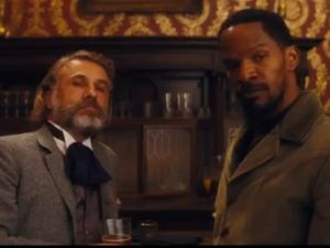 Christoph Waltz and Jamie Foxx in 'Djago Unchained'