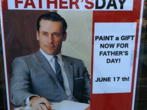 """Nothing says """"Very involved parenting"""" like Don Draper"""