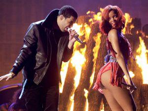 Drake and Rihanna, sans Chris Brown.