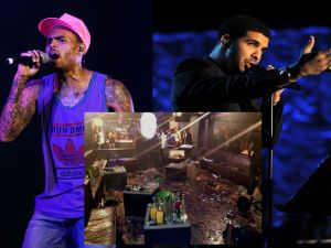 Chris Brown, Drake, and the carnage of W.i.P. (Getty/Getty/Twitter)