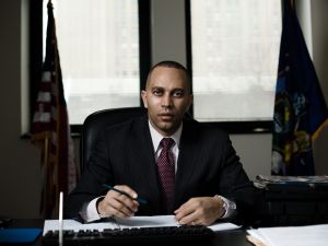 Democratic congressional hopeful Hakeem Jeffries. (Photo by Gray Hamner)