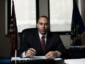 Democratic congressional hopeful Hakeem Jeffries. (Photo by Gray Hamner)