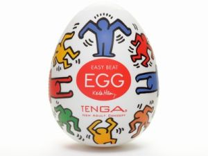 "Keith Haring Dance Egg. The Keith Haring version of one of Tenga's most popular toys, the ""Egg"" and ""Cup."" (Courtesy Opening Ceremony)"
