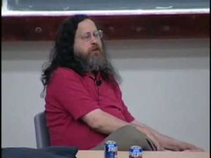 Mr. Stallman, snacking on foot stuff. (Photo: Phun.no)