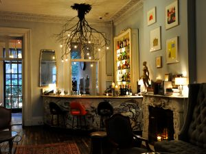 The bar on the parlor floor of the Norwood. (Courtesy Norwood)