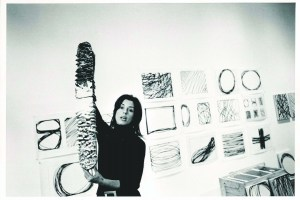 Ms. Cooper in her gallery in 1971. (Courtesy Paula Cooper Gallery)