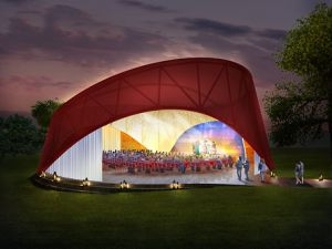 A rendering of the planned pavilion. (Courtesy Rockwell Group)