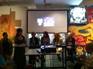 From left: Elizabeth Stephens, Annie Sprinkle, Gloria Leonard, Veronica Vera, Veronica Hart, Candida Royalle.