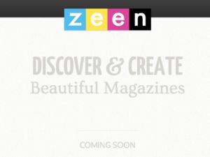 Zeen's splash page. (Photo: Zeen)